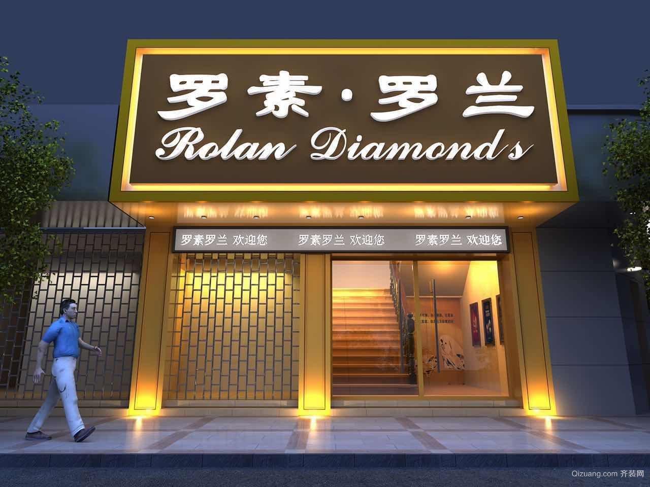 广州花都罗兰钻石店现代简约装修效果图实景图