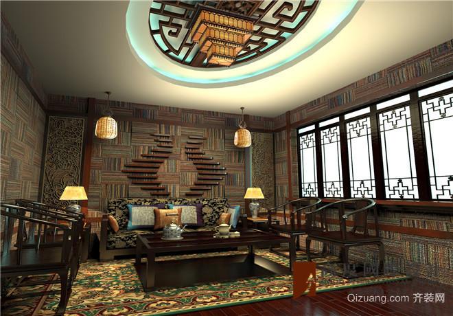 老舍茶楼中式风格装修效果图实景图
