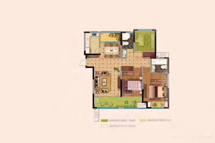 学府家苑混搭风格装修效果图实景图