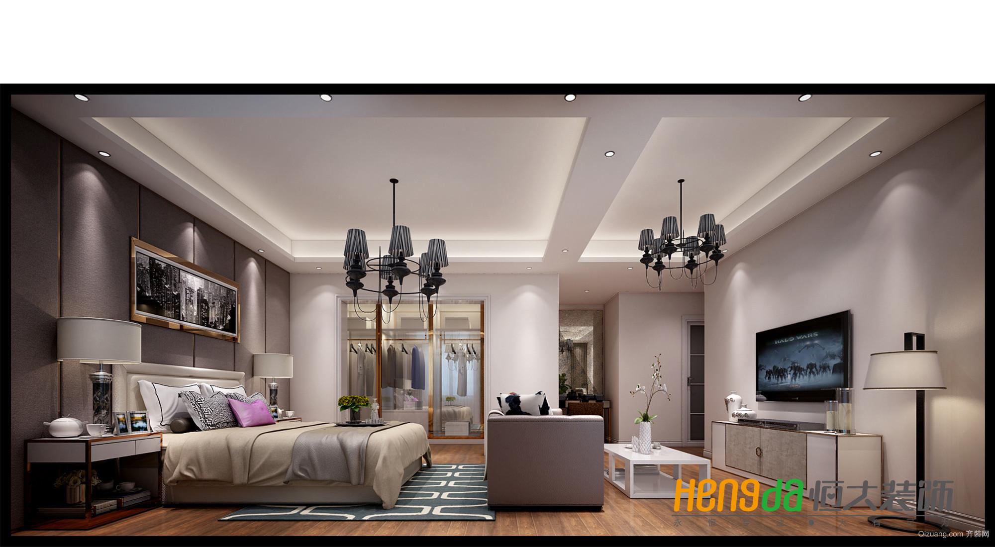 富丽家园现代简约装修效果图实景图