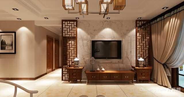 江城逸品中式风格装修效果图实景图