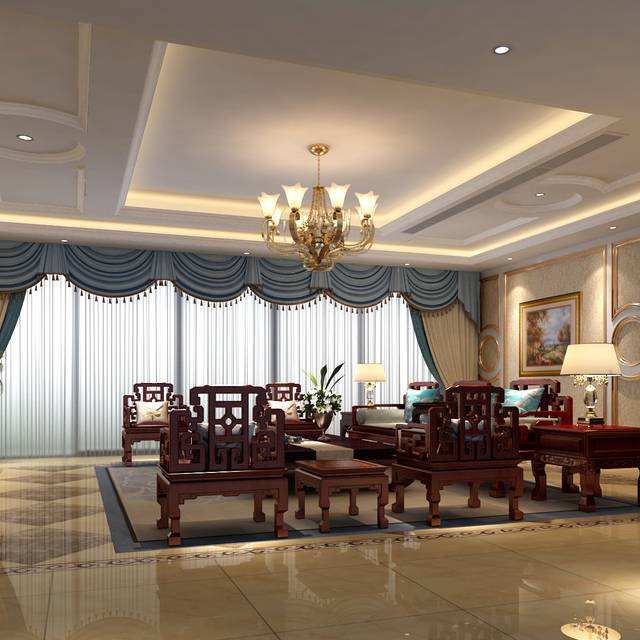 香山美墅800㎡别墅混搭风格装修案例