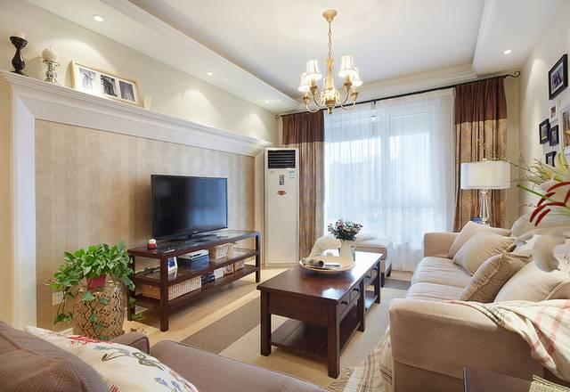 浔南·理想家园90㎡普通户型美式风格装修案例