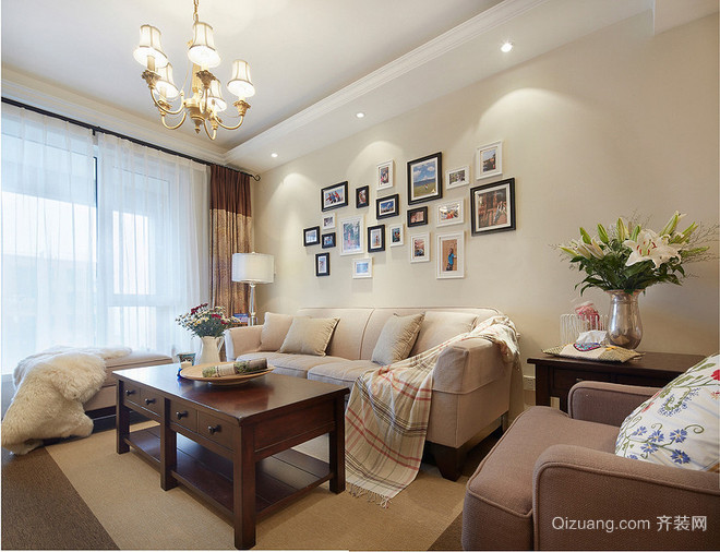 浔南·理想家园美式风格装修效果图实景图