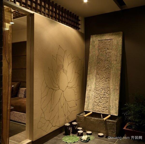 松江-点沫茶楼中式风格装修效果图实景图