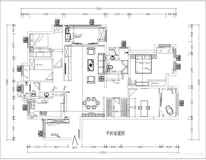 江南府邸现代简约装修效果图实景图