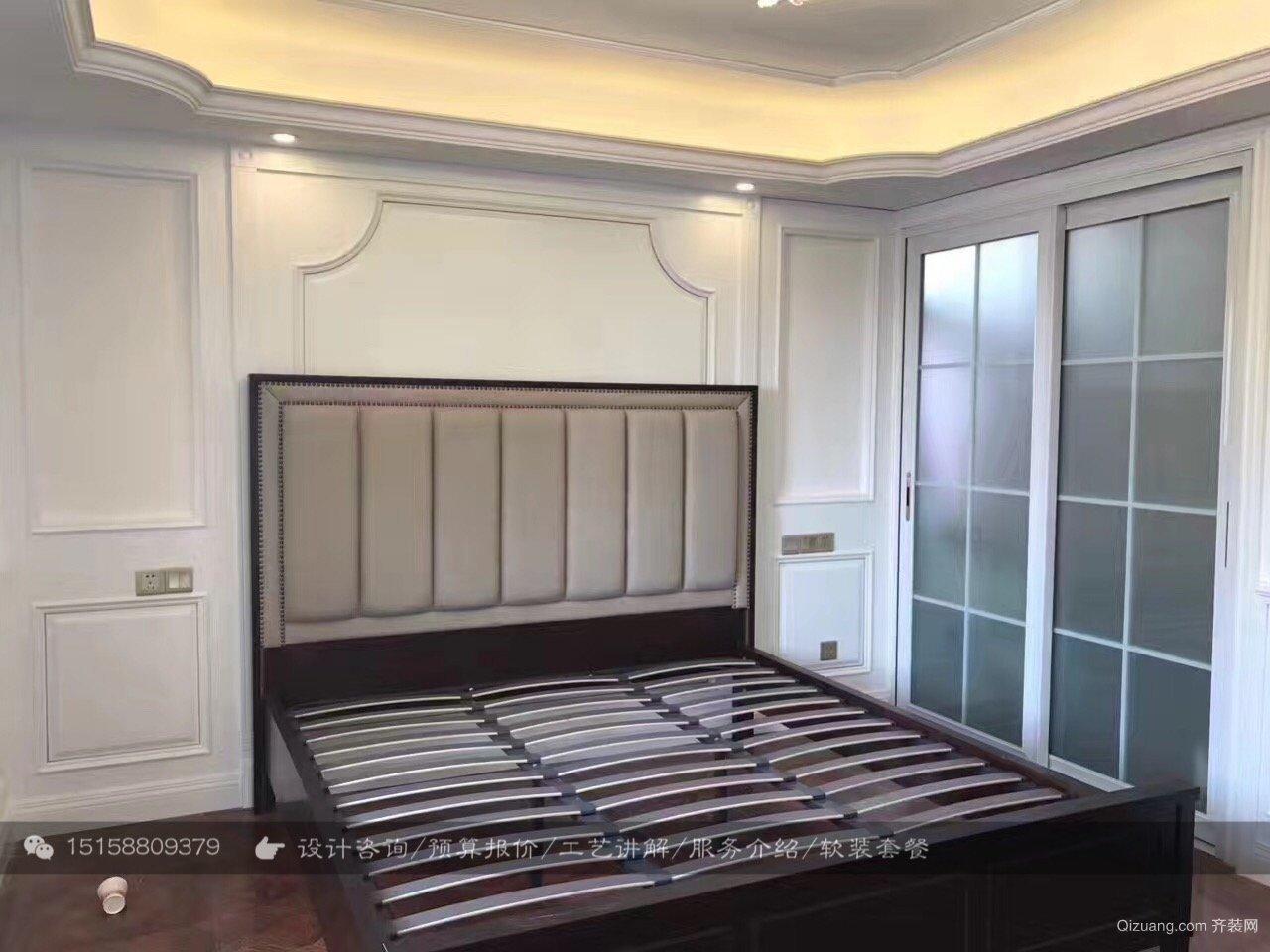 近江三园180方-硬装完工美式风格装修效果图实景图