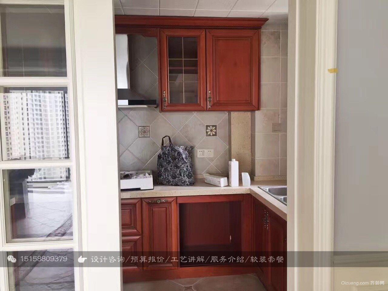 龙湖春江郦城-硬装竣工阶段美式风格装修效果图实景图