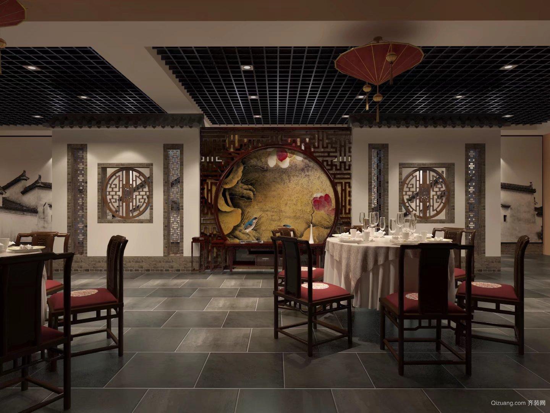 徽宴中式风格装修效果图实景图