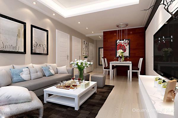 中央豪庭现代简约装修效果图实景图