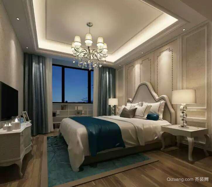 蓝光五彩城中式风格装修效果图实景图