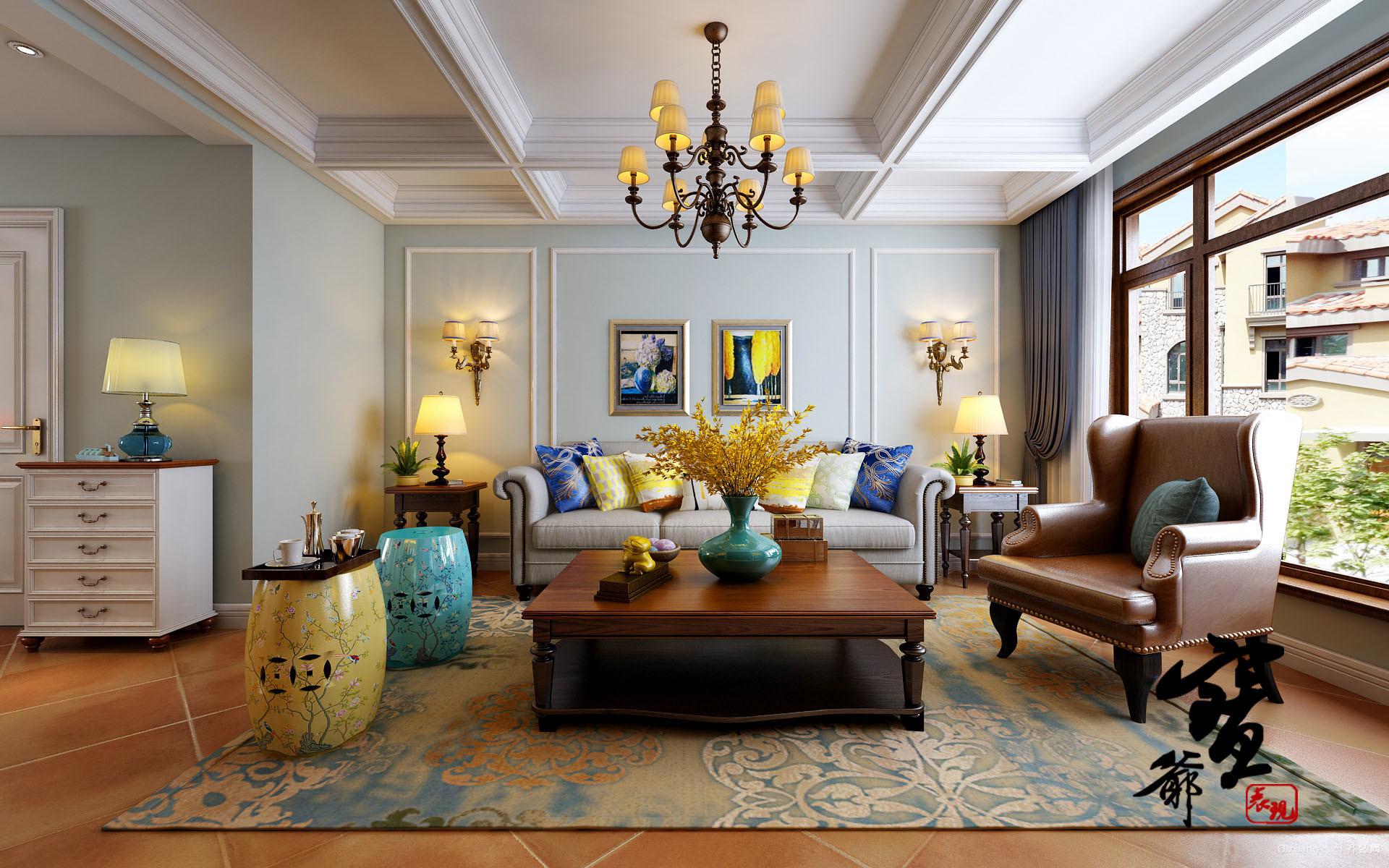 180平米普通家装美式照明风格装修户型设计-邢美容院装修图片设计方案图片