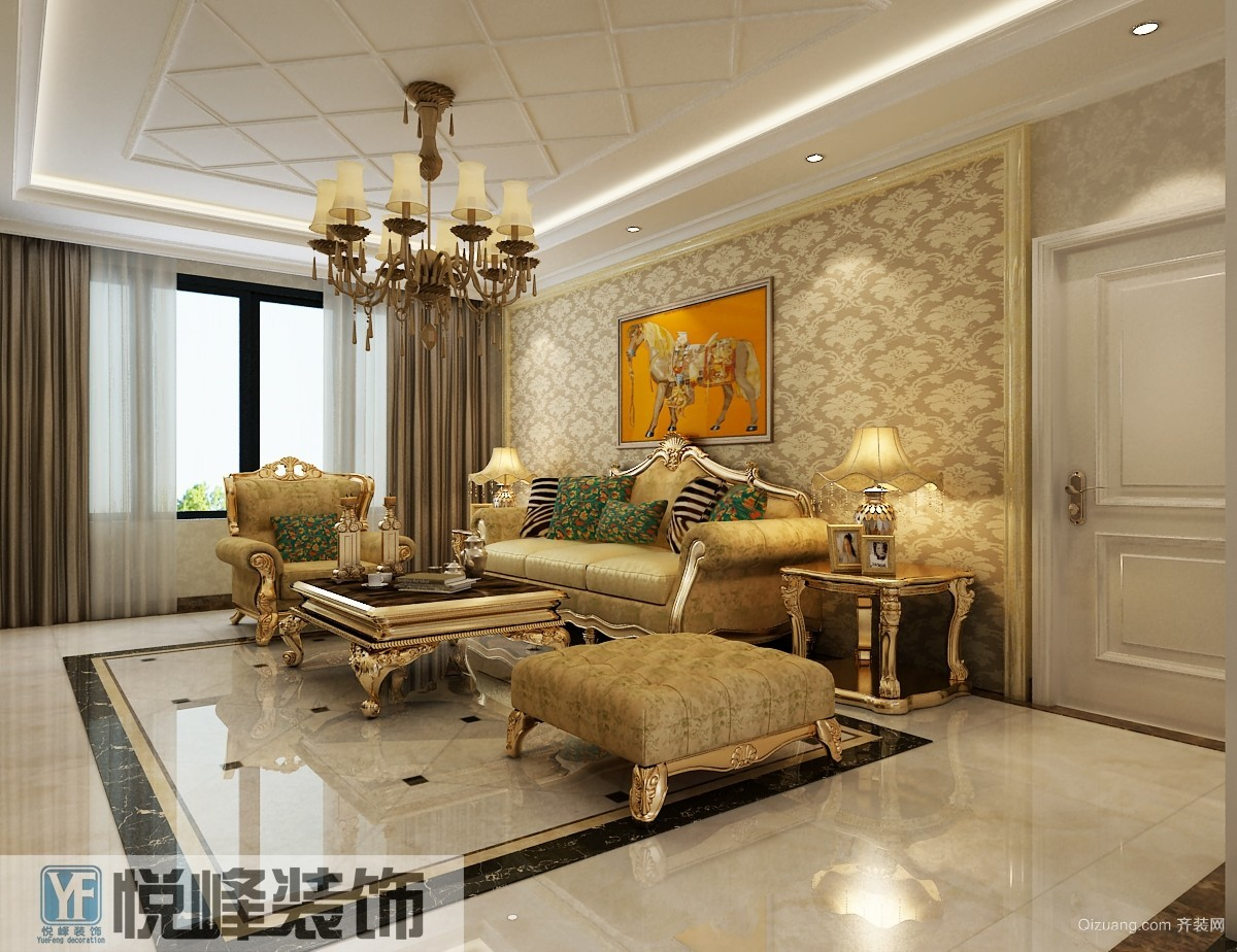 165平米普通家装欧式家具风格装修图片v家装-邢户型设计师改行图片
