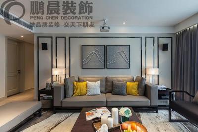 芜湖江岸明珠 120平混搭装修效果图 装修设计案例