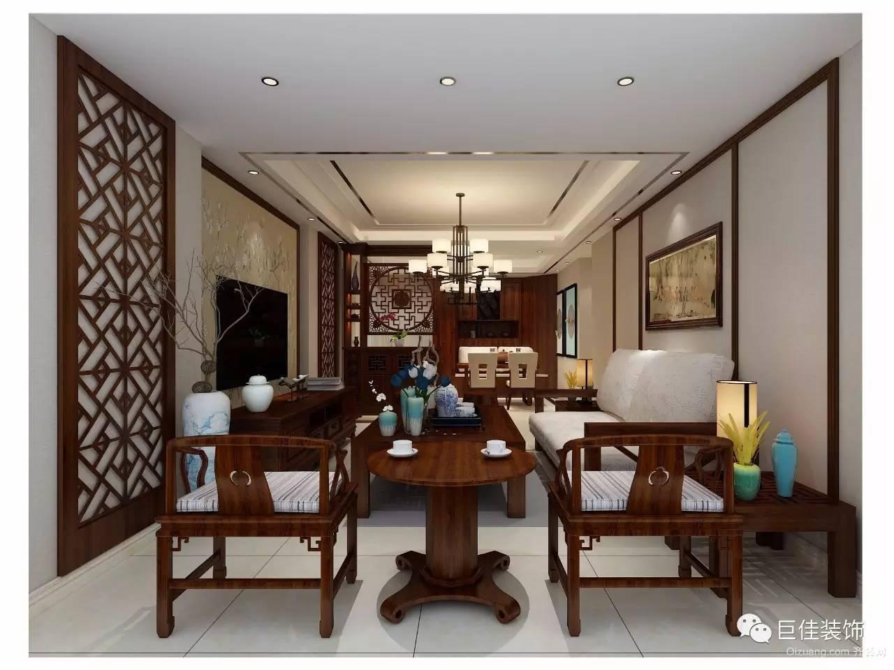 紫元·尚园中式风格装修效果图实景图
