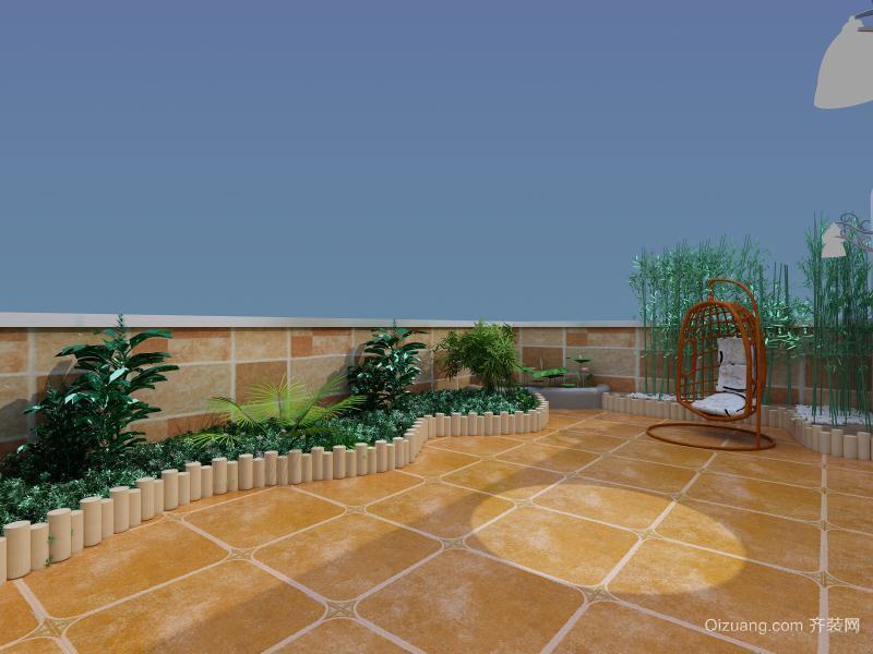 陇景苑美式风格装修效果图实景图