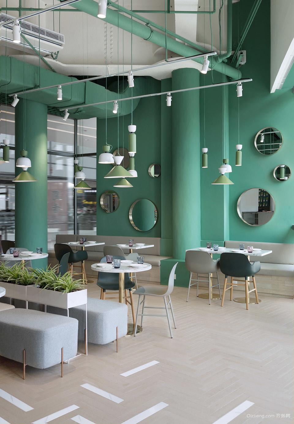 餐饮现代简约装修效果图实景图