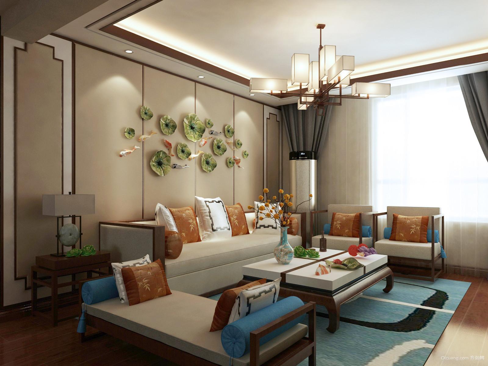 110平米普通户型中式家装图片装修风格v户型-邢黄河流域图设计图图片