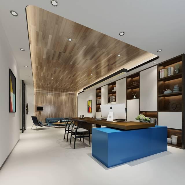石总创意办公写字楼800㎡现代简约装修案例