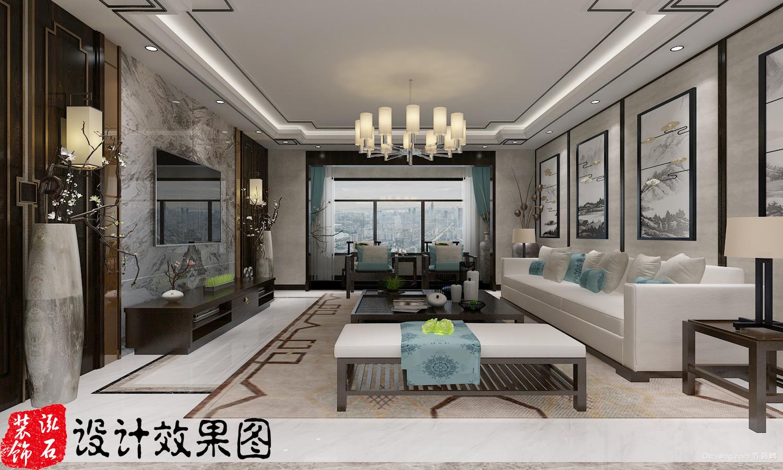 华夏大公馆中式风格装修效果图实景图