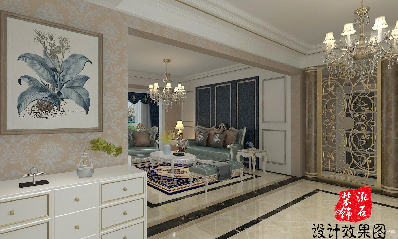 玲珑翡翠湾欧式风格装修效果图实景图