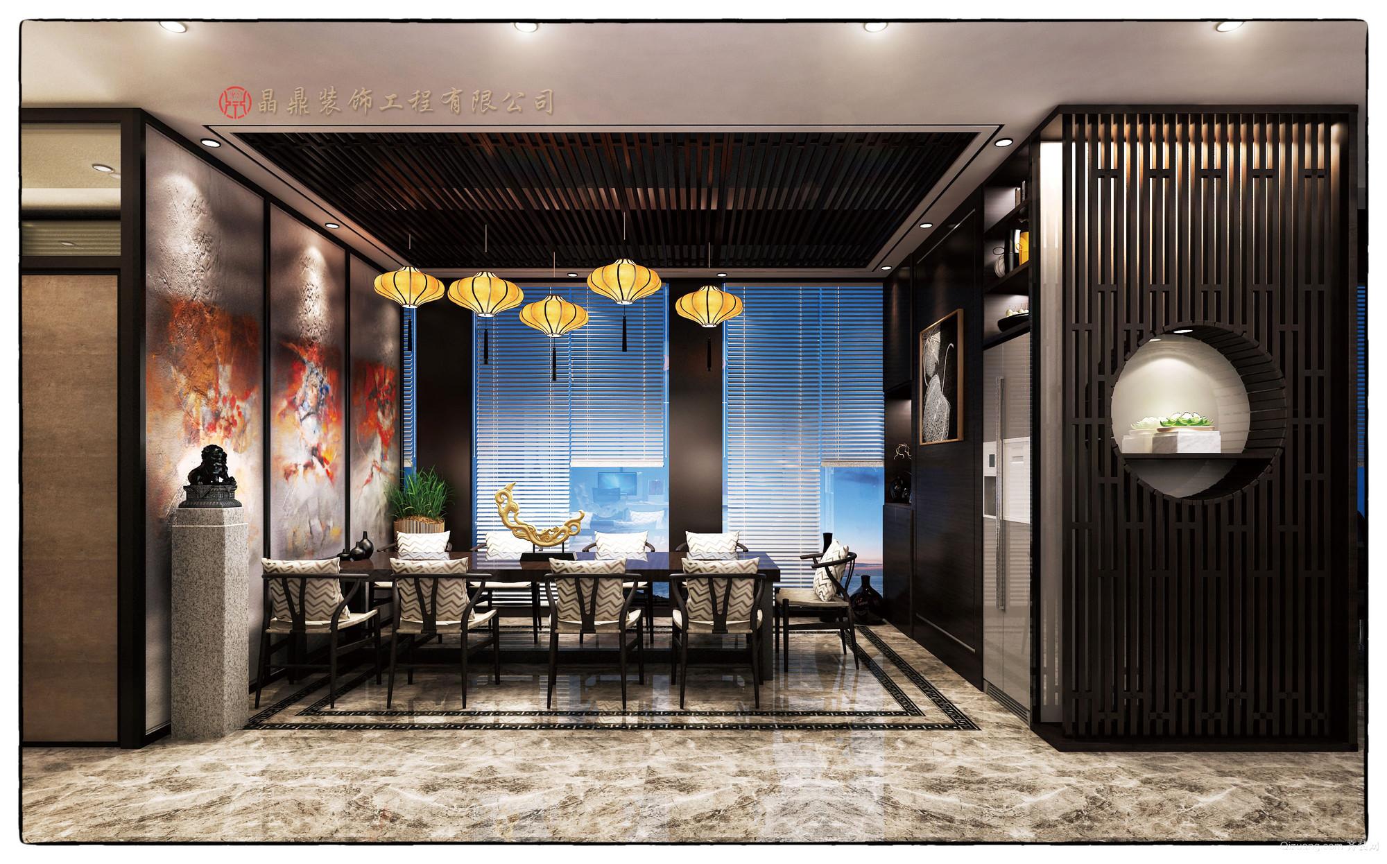 创客装饰工程有限公司办公室中式风格装修效果图实景图