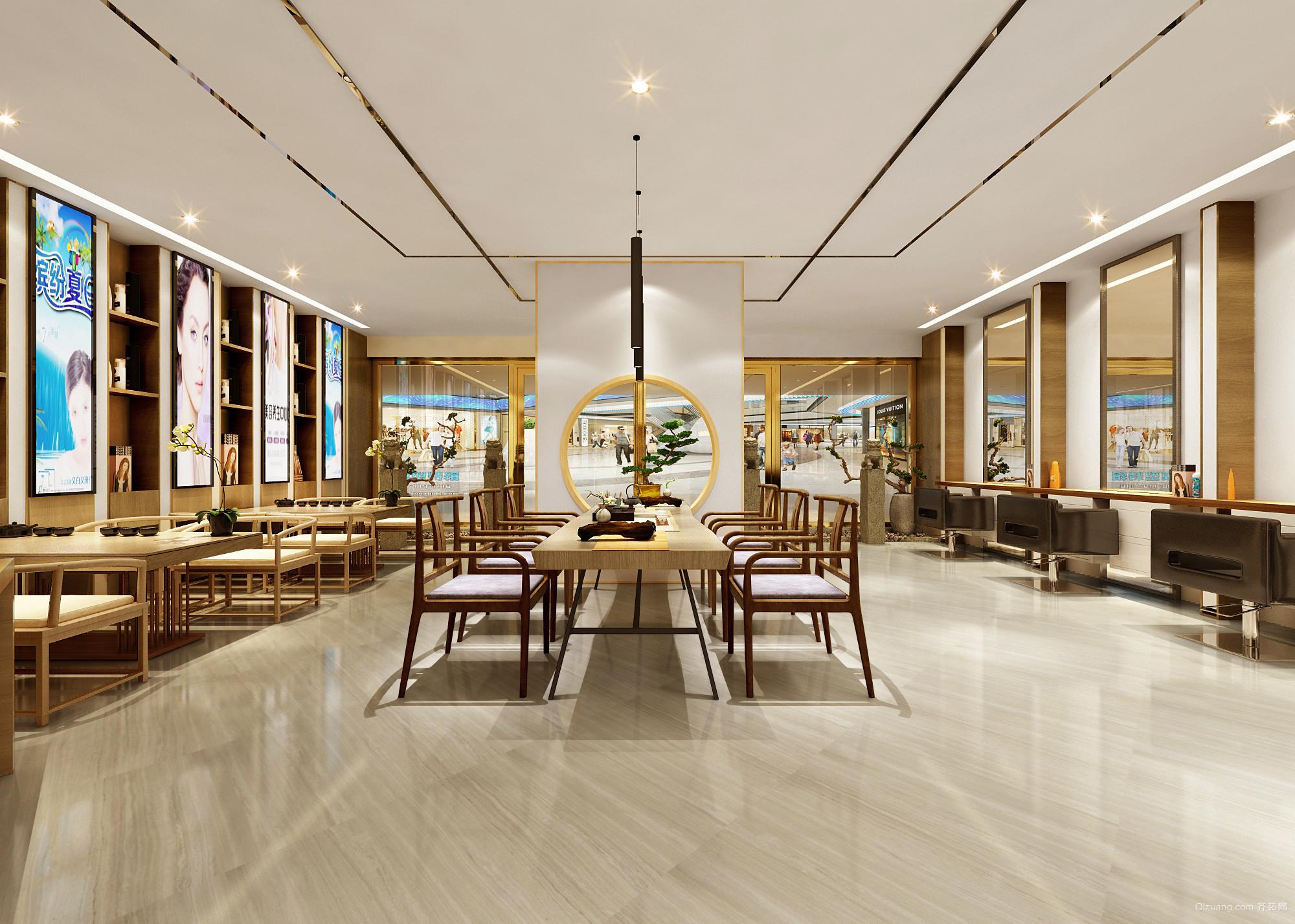 艾秀造型美圈佛山南海万达广场现代简约装修效果图实景图