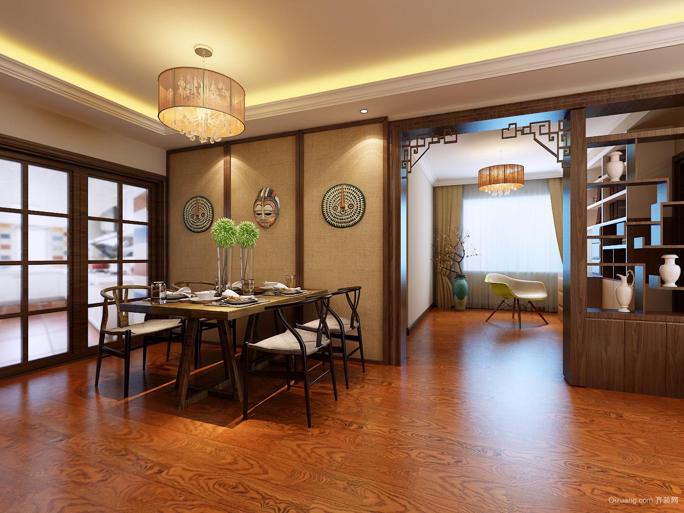 青岛印象山中式风格装修效果图实景图