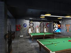 酷8台球俱乐部混搭风格装修案例
