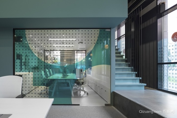 银泰城写字楼现代简约装修效果图实景图