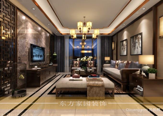 颐海蓝湾中式风格装修效果图实景图