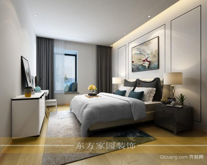 晓港名城五期现代简约装修效果图实景图