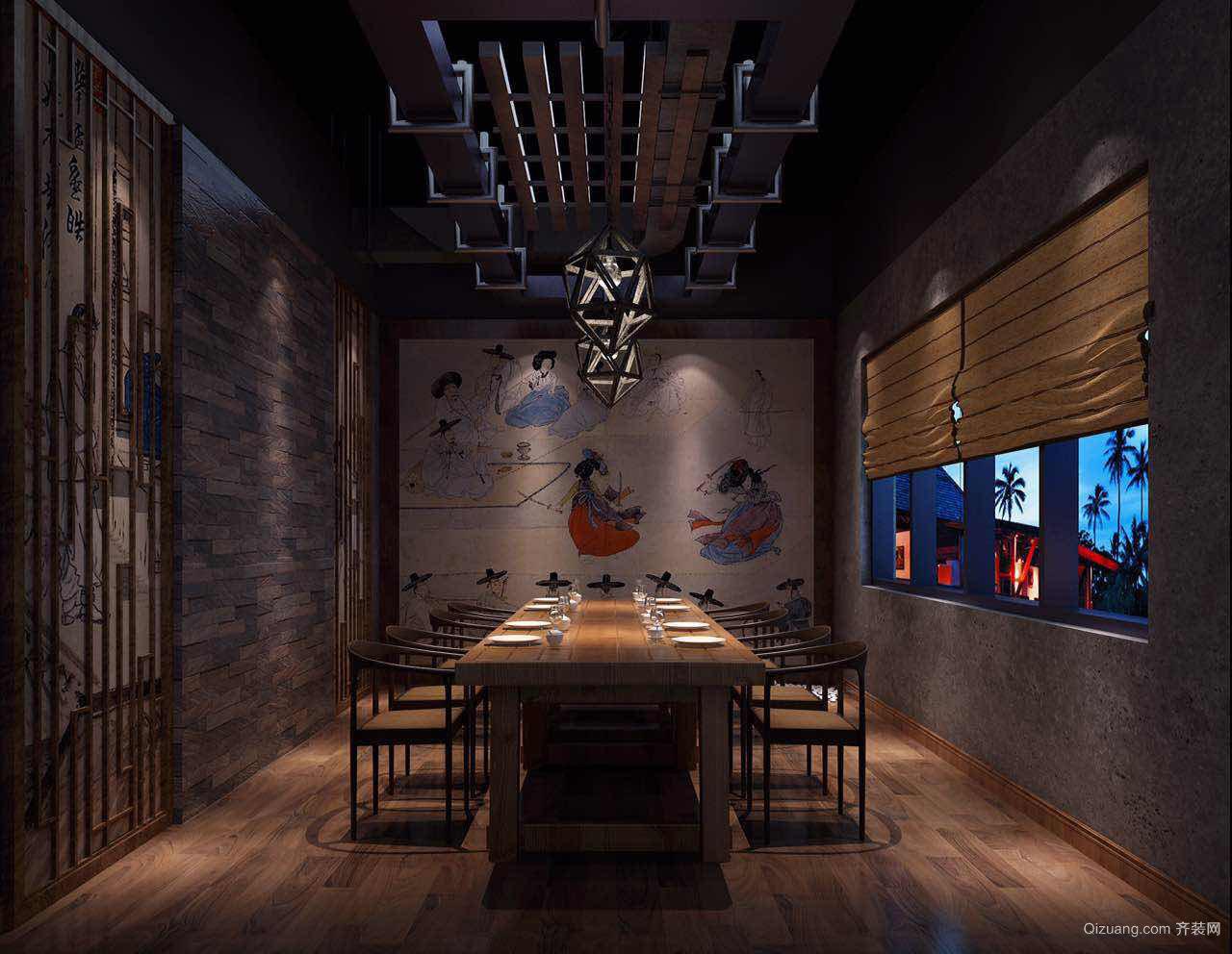 韩国烤肉店现代简约装修效果图实景图