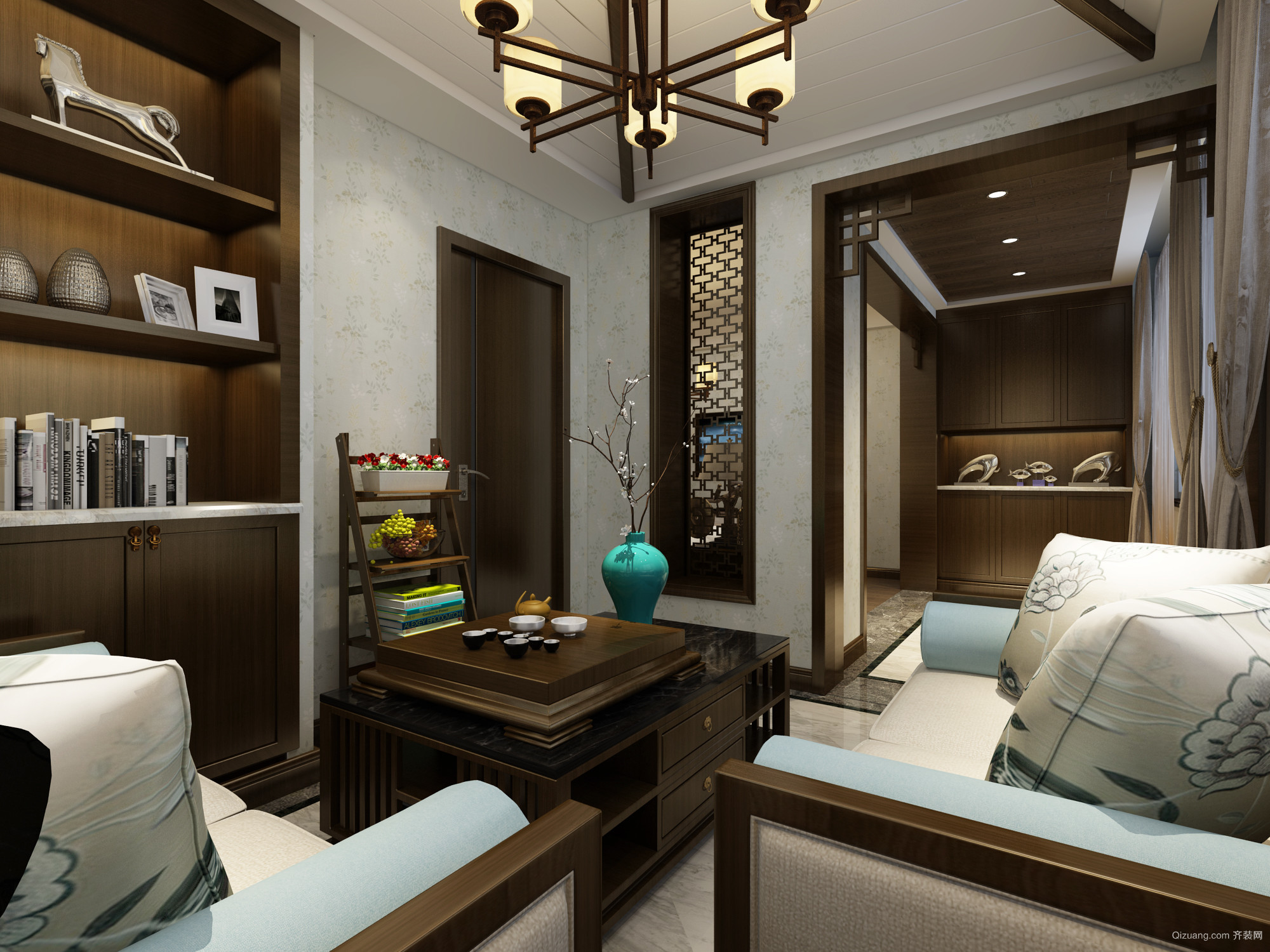 蓝海湾卡地亚中式风格装修效果图实景图