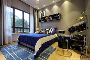 124平米普通家装现代简约户型通风图片v家装-连装修塔建筑设计图片
