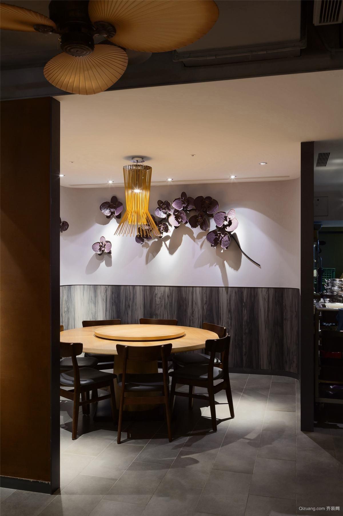 泰式风格餐厅现代简约装修效果图实景图