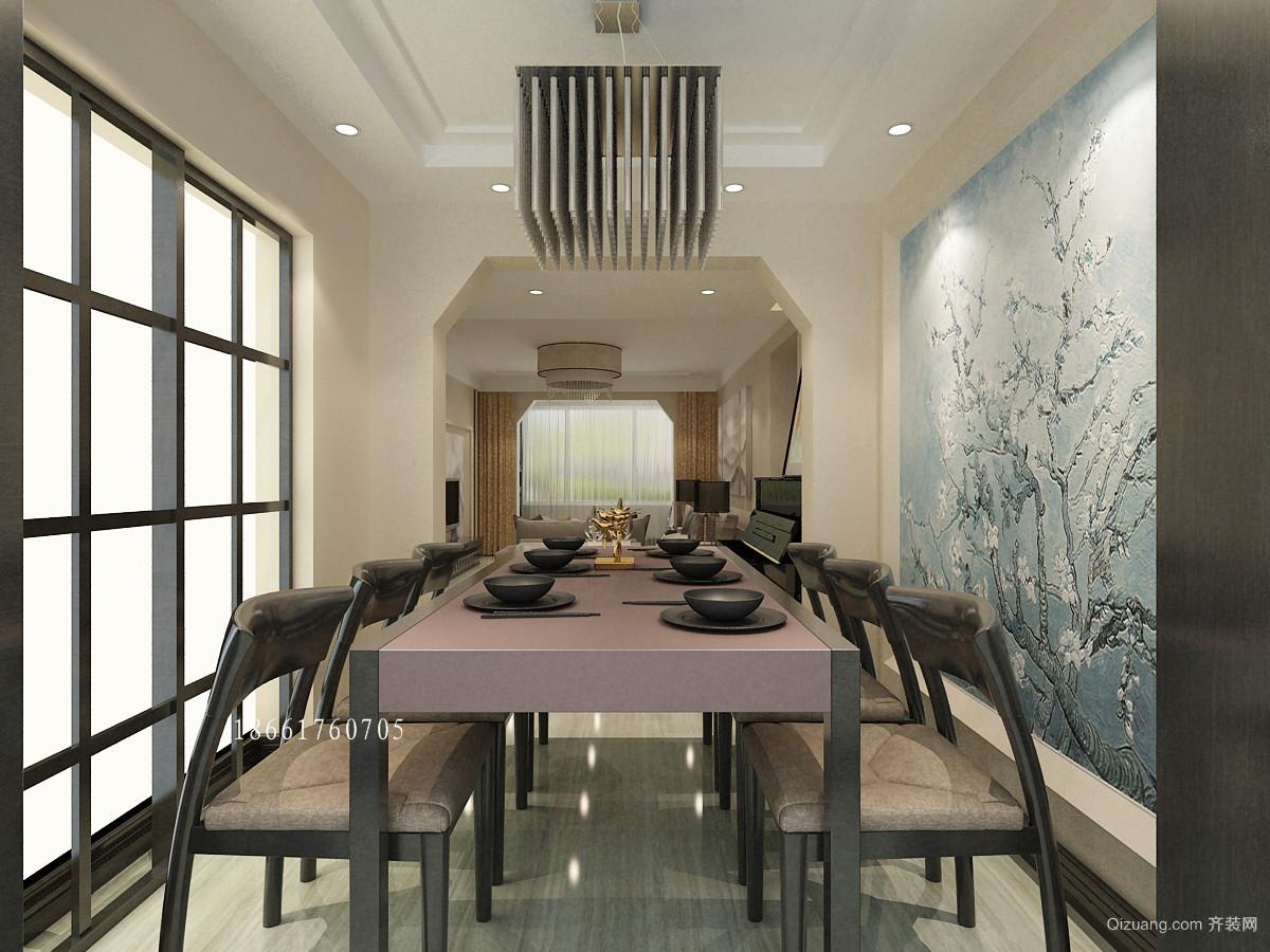 青岛海尔世纪公馆新中式黑白极简原木色调后现代的感觉中式风格装修效果图实景图