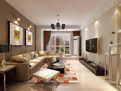 玉山90㎡两室一厅时尚简约婚房装修效果图 装修设计案例