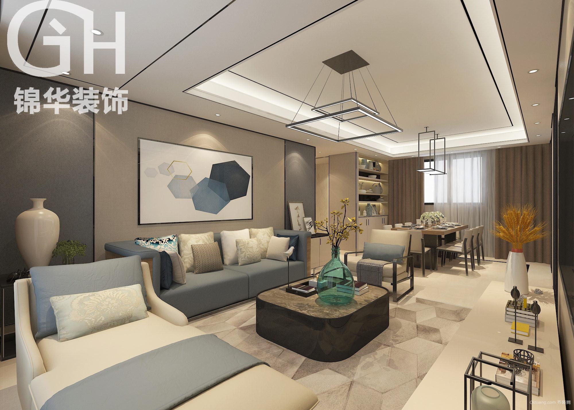泰丰国际城现代简约装修效果图实景图