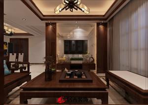 漳州88㎡中式风格装修效果图