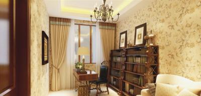 葫芦岛欧式三室二厅二卫装修设计案例