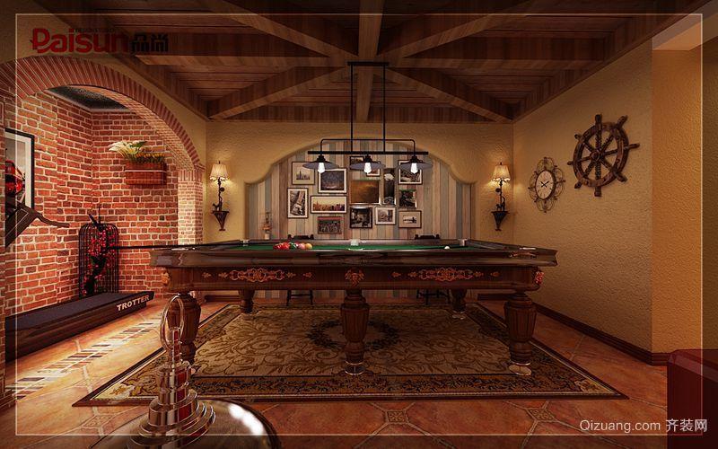 天茂湖温莎园美式风格装修效果图实景图