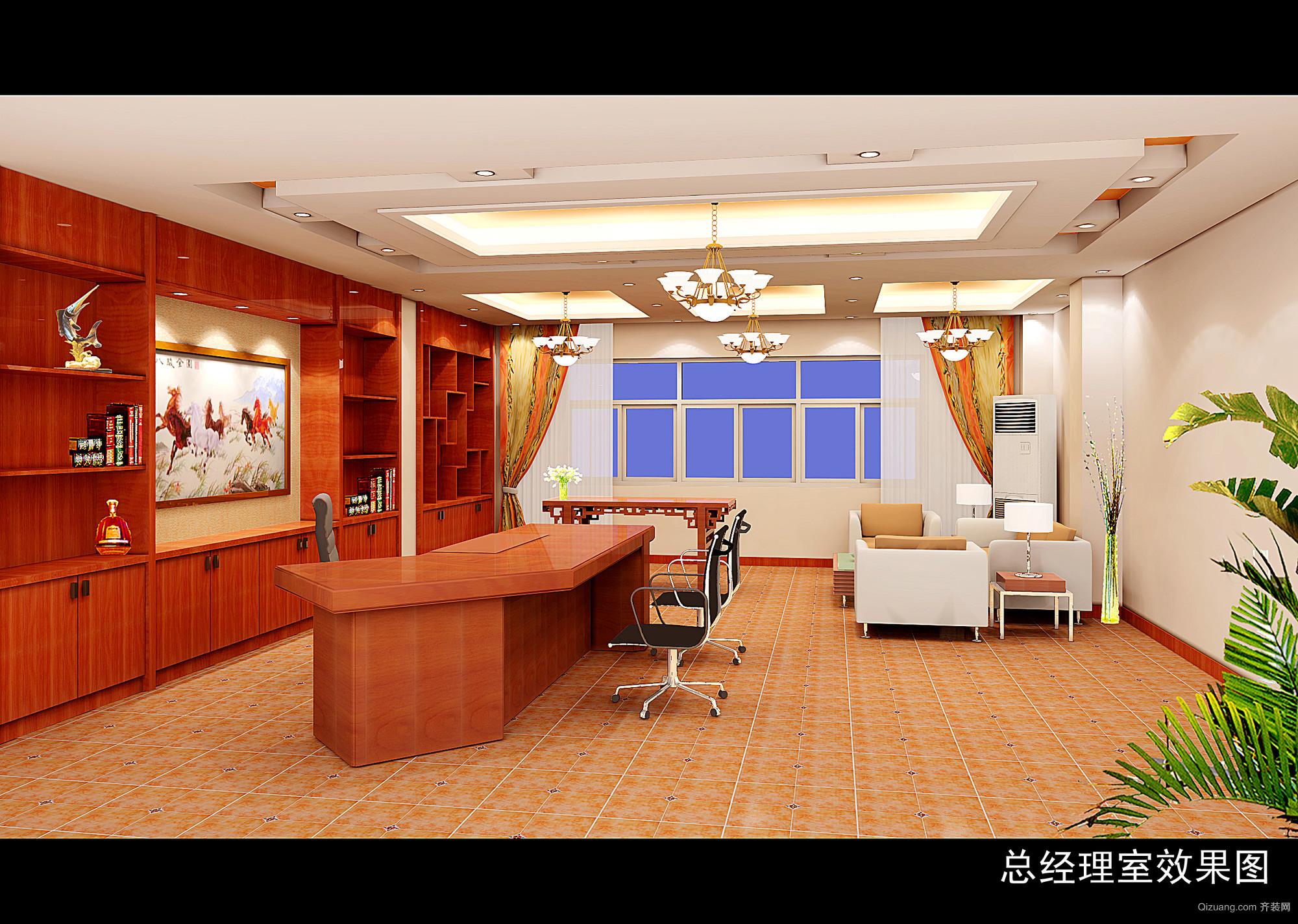 信息大厦古典风格装修效果图实景图