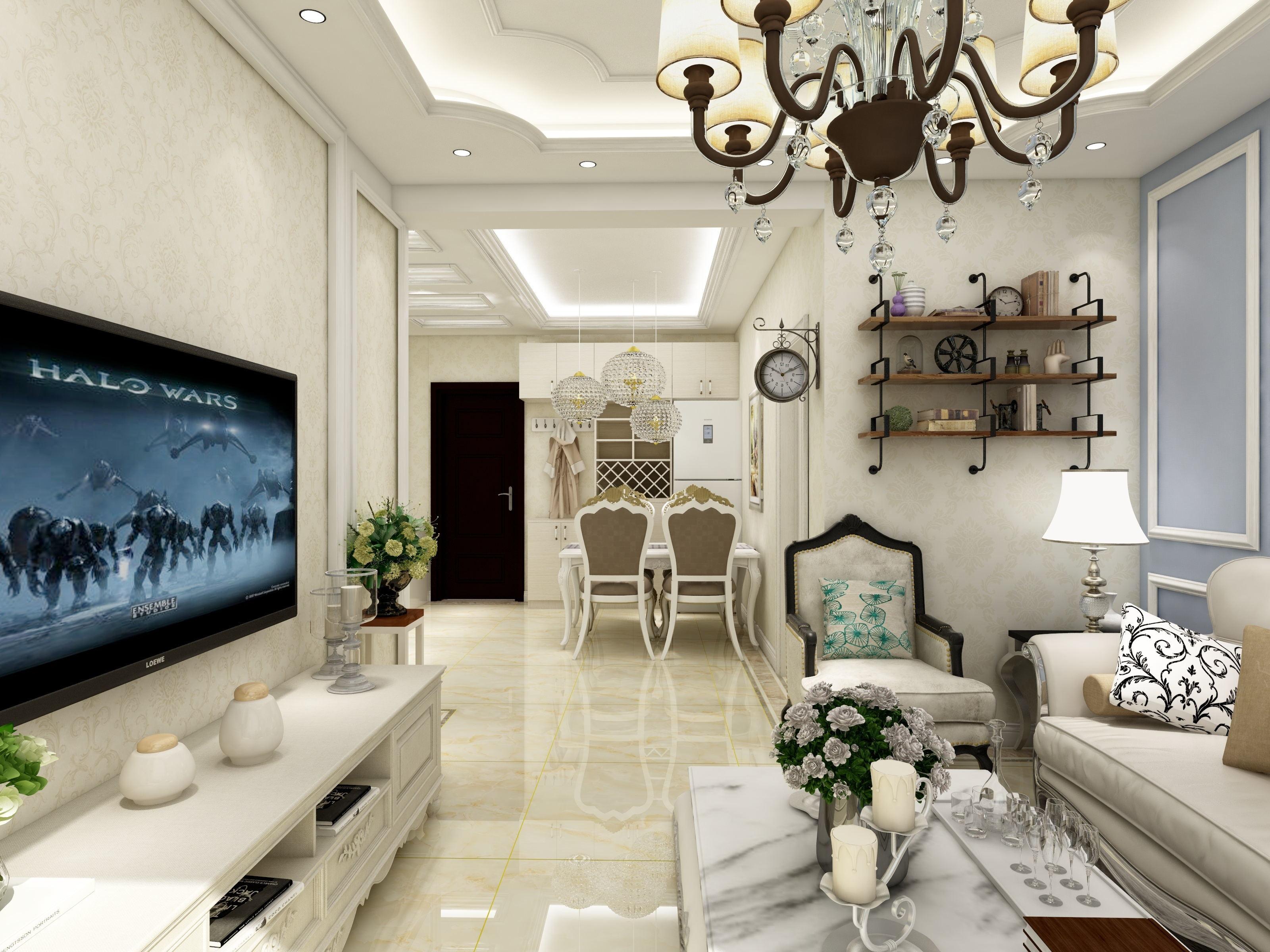 安居东城欧式风格装修效果图实景图