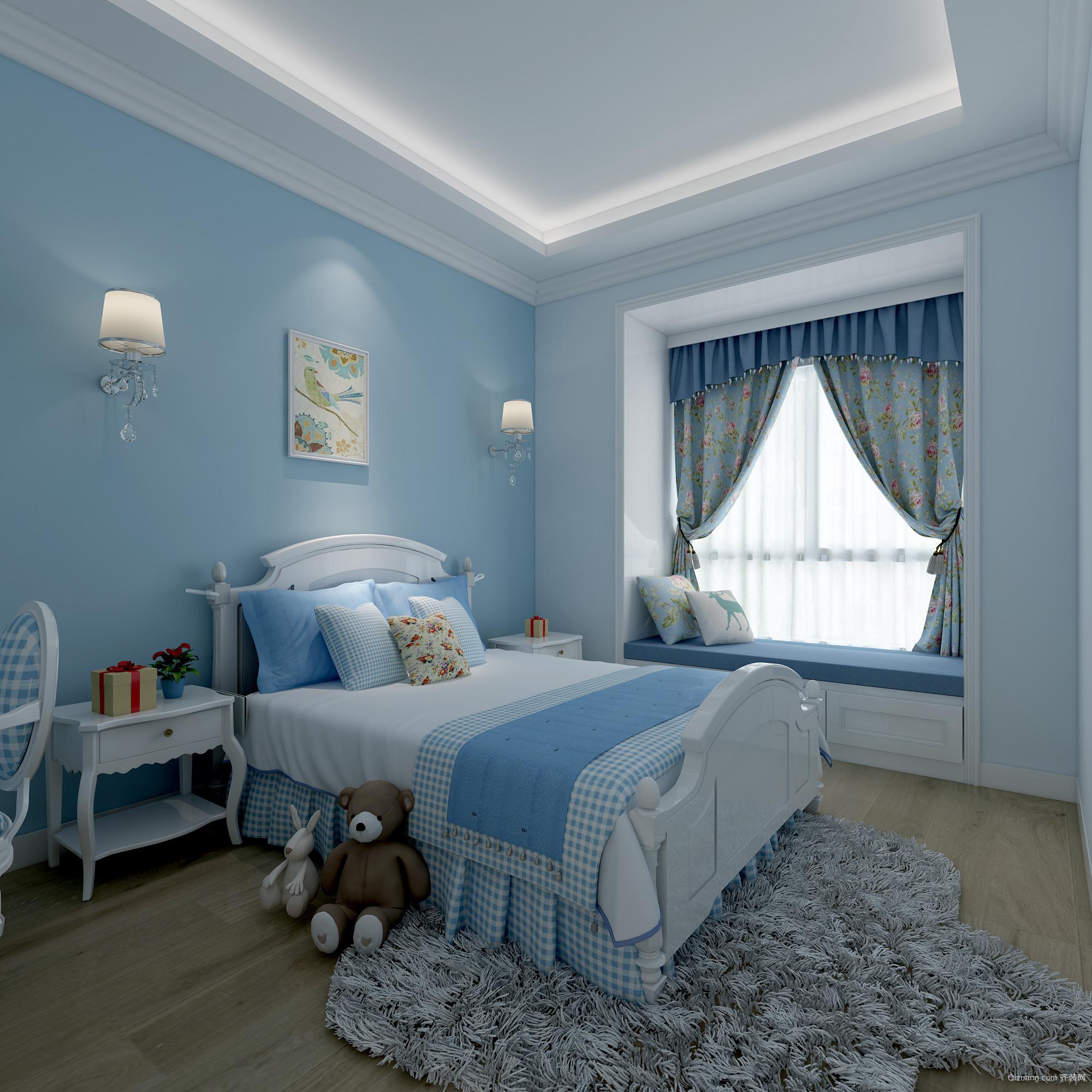 珠江帝景克莱公寓现代简约装修效果图实景图