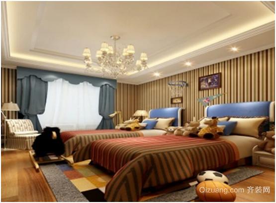 布鲁克林别墅古典风格装修效果图实景图