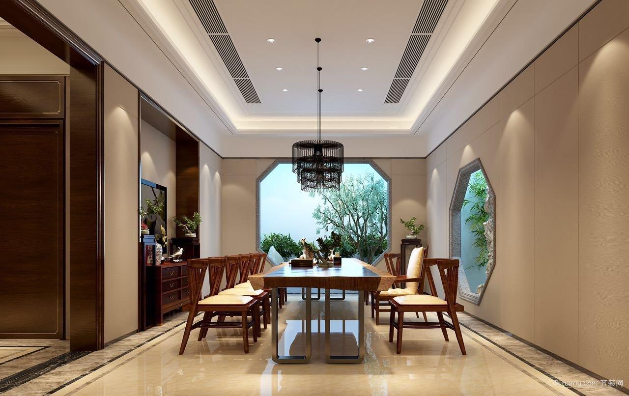 国泰别墅中式风格装修效果图实景图