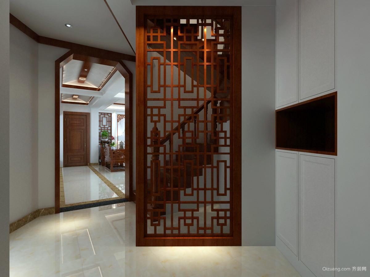 海棠香郡4-401中式风格装修效果图实景图