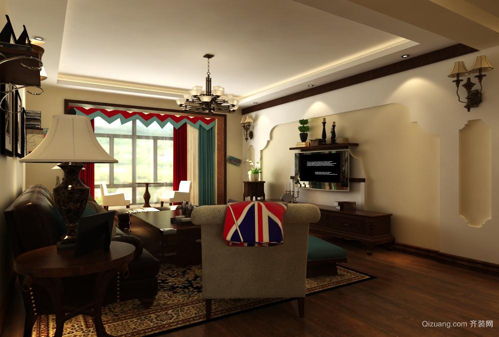 奥新三期19栋美式风格装修效果图实景图