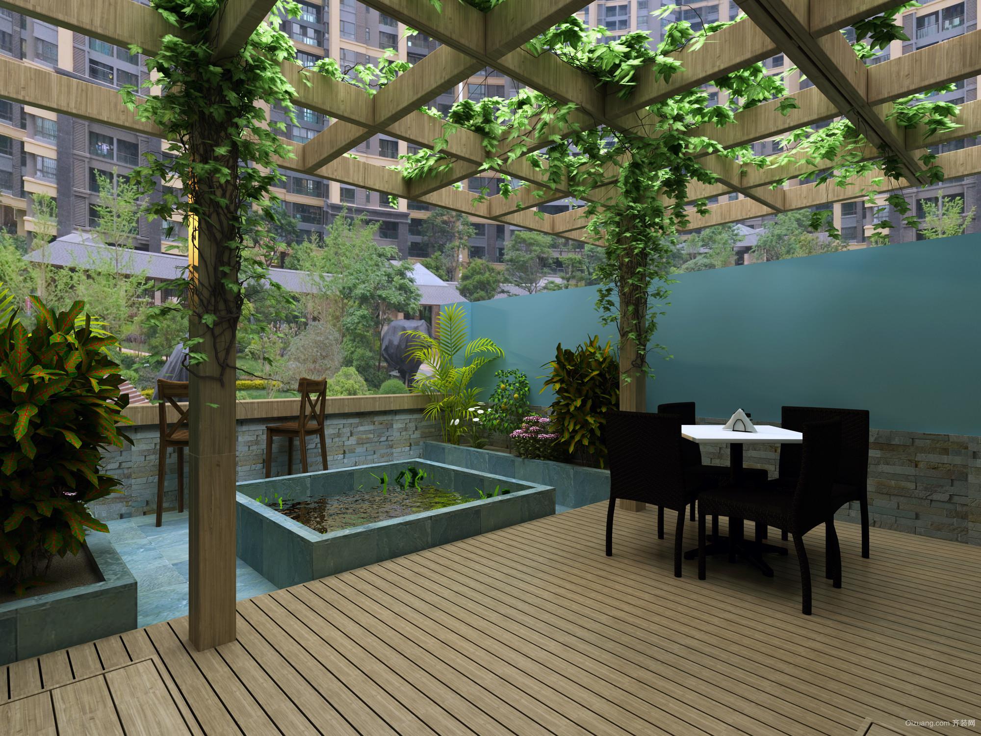 金腾花园中式风格装修效果图实景图